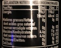 Mojito - Informations nutritionnelles - fr
