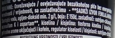 Coca Cola zéro - Sastojci - sr