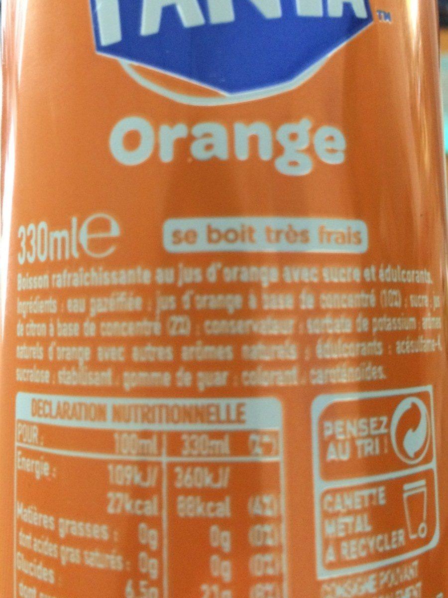 Fanta orange - Ingrediënten - fr