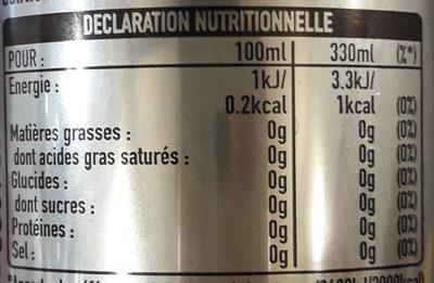 Coca light - Valori nutrizionali - fr