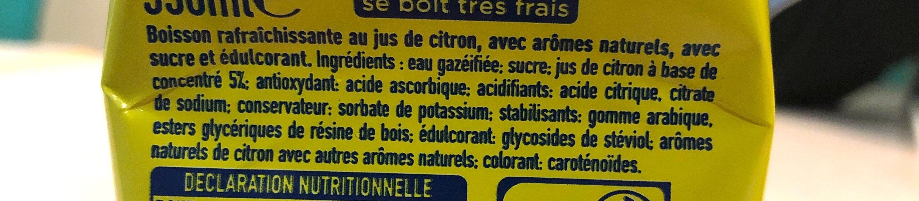 Fanta Citron frappé - Ingrédients - fr