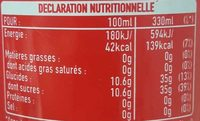 - Informations nutritionnelles - fr