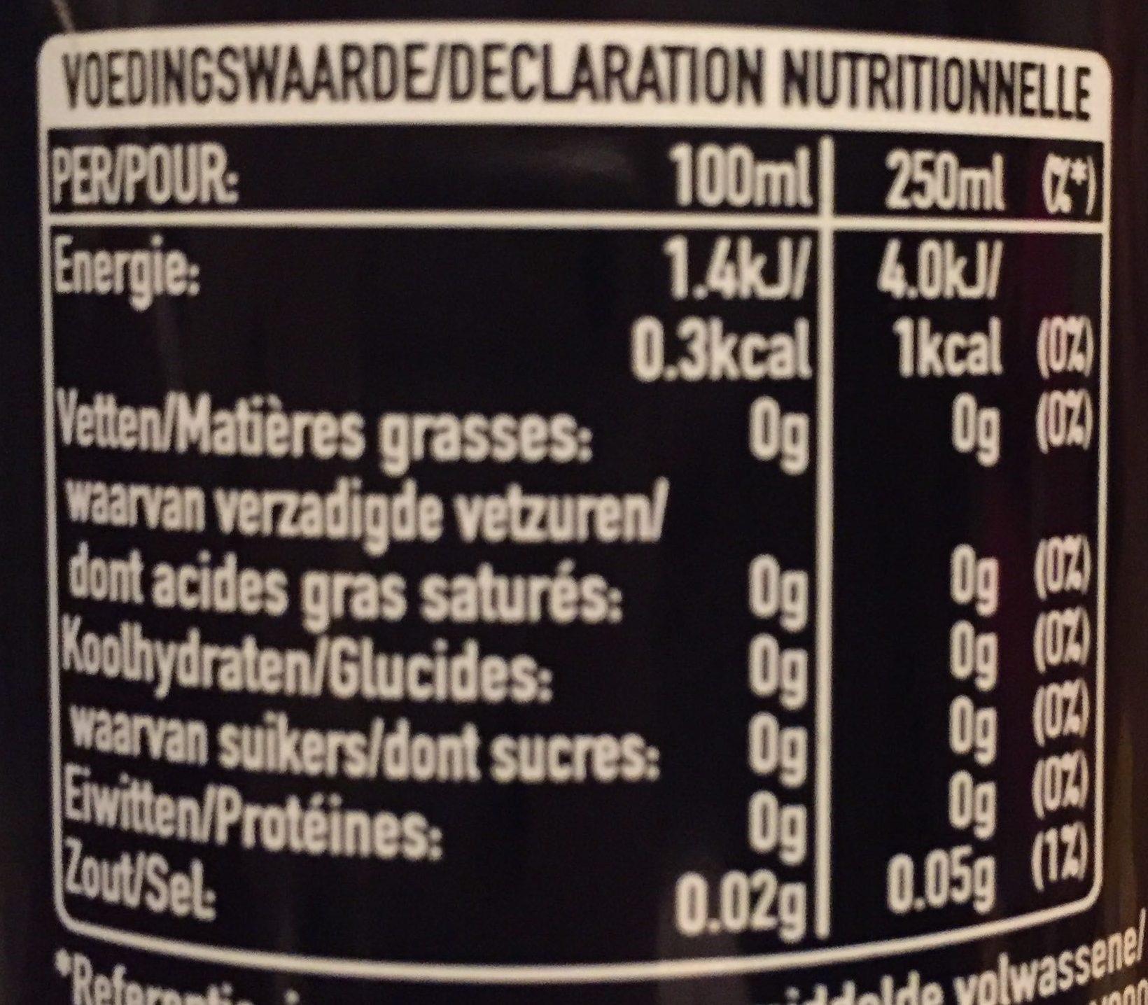Coca-Cola zéro - Voedingswaarden - fr