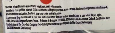 light taste - Ingrédients - fr