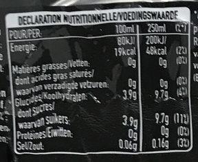 Fines Bulles Spritz - Informations nutritionnelles