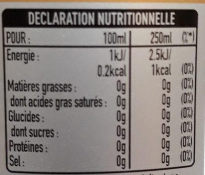Coca-cola light sans caféine pet - Nutrition facts - fr