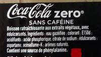 Coca-cola Zéro Sans caféine - Ingredients - fr