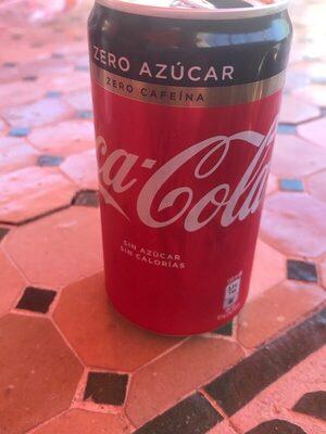 Cocacola zero azúcar zero cafeína - Producto