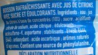 Citronnade - Ingrédients