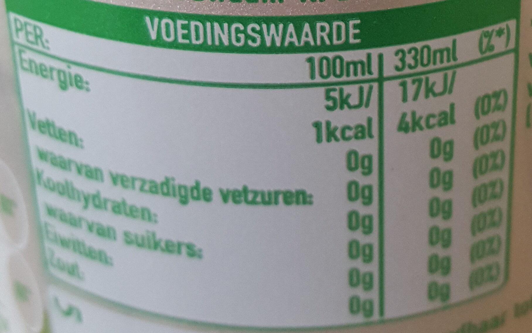 Sprite - Voedingswaarden - nl