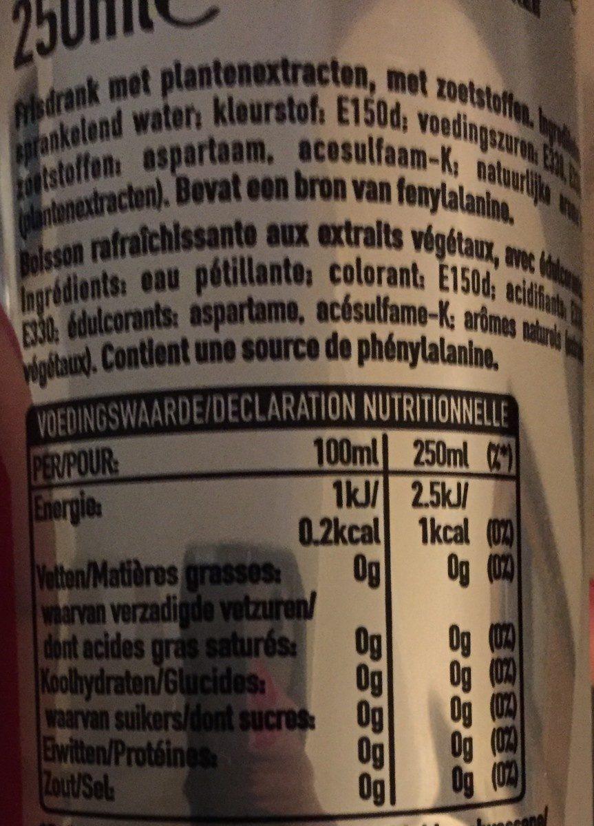 Coca cola light - Ingredienti - fr