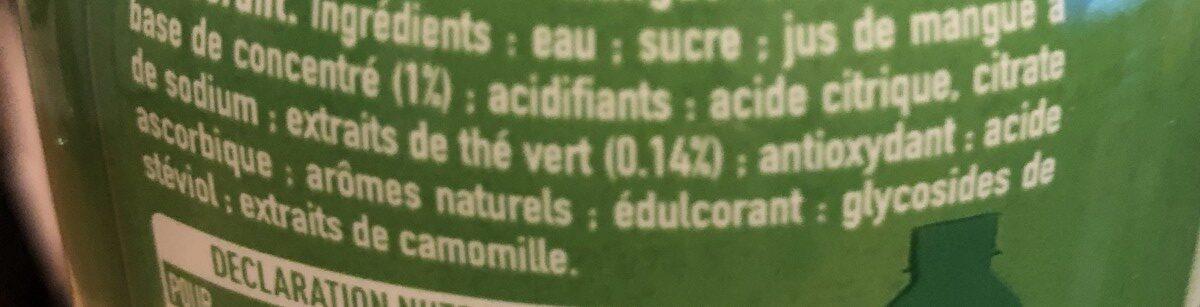 The vert harmony - Ingrediënten