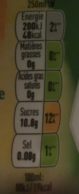 Fuzetea - Informations nutritionnelles - fr