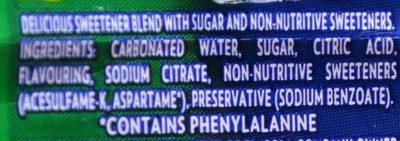 Sprite Lower Sugar - Ingredienti - fr
