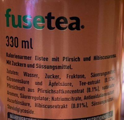 Black ice tea peach & hibiscus - Ingredients