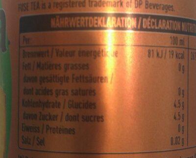 Black ice tea peach & hibiscus - Nutrition facts