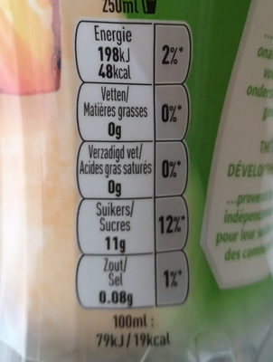 Black tea peach hibiscus - Informations nutritionnelles - fr