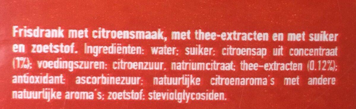 Icetea - Ingredients