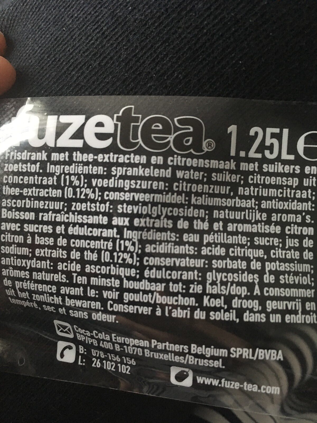 Sparkling Black Tea - Ingredients