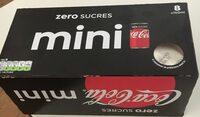 Mini coca cola zero sucres - Produit