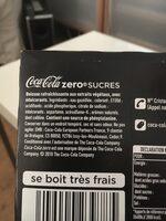 Mini coca cola zero sucres - Ingrédients