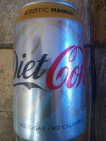 Diet Coke Exotic Mango - Produit