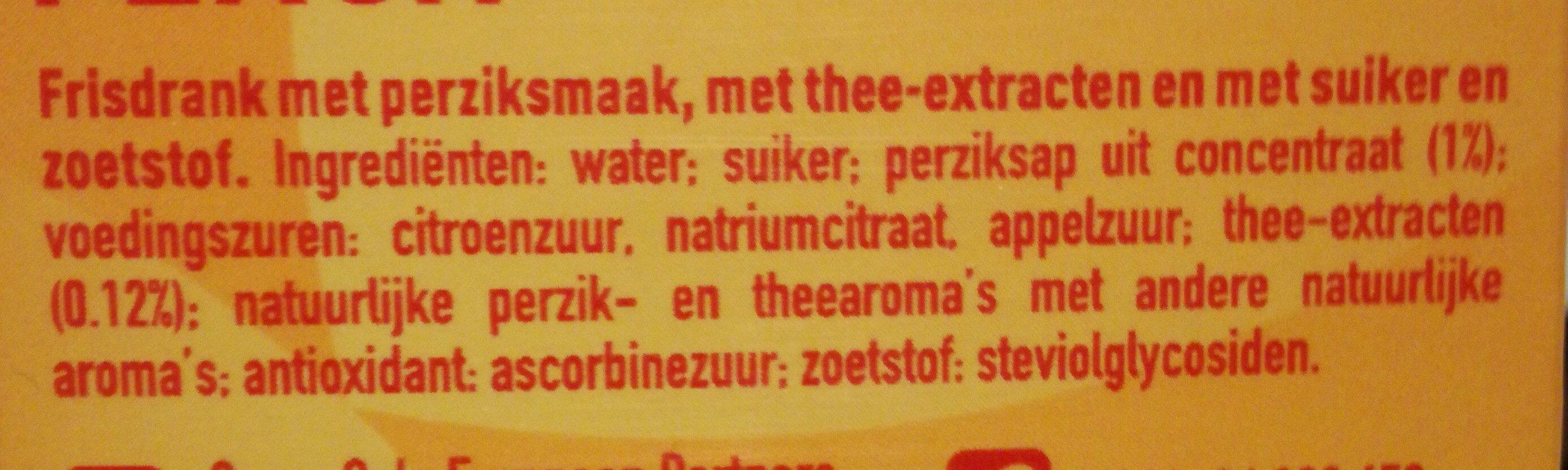 Fuzetea black tea peach - Ingrediënten - nl