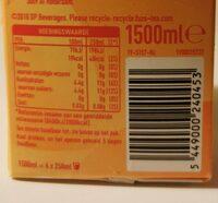Fuzetea black tea peach - Voedingswaarden - nl