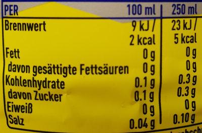Fanta Lemon - Valori nutrizionali - de
