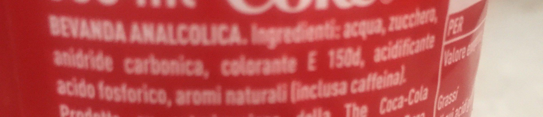 Coca Cola - Ingrédients - fr