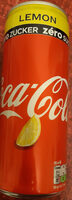 Coca Zero Zucker Lemon - Prodotto - de