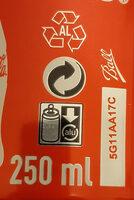 Coca Zero Zucker Lemon - Istruzioni per il riciclaggio e/o informazioni sull'imballaggio - de
