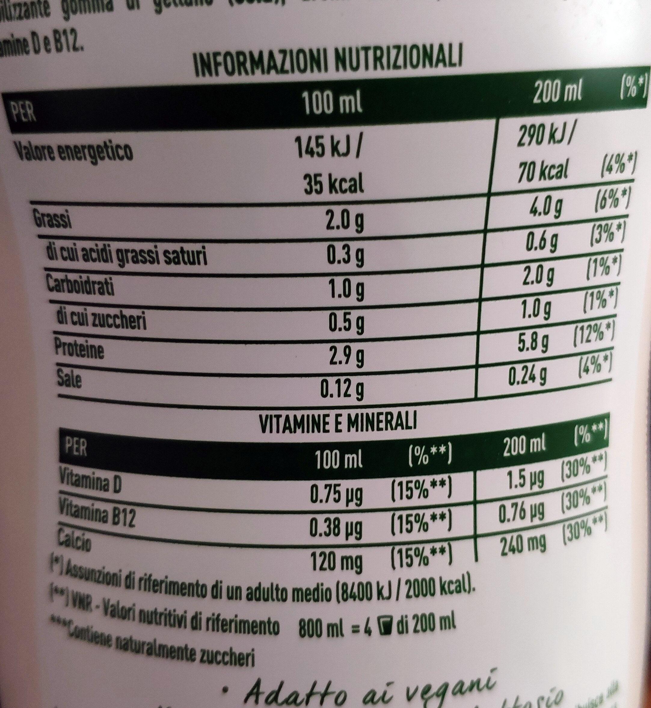 Sorprendete soia gusto delicatamente dolce - Valori nutrizionali - it