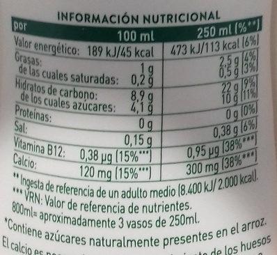 Arroz Ideal AdeS - Informations nutritionnelles
