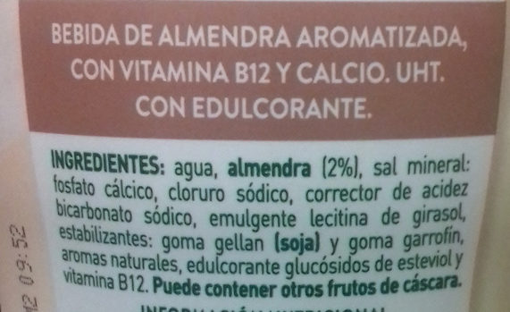 Amazing Almond - Ingredientes - es