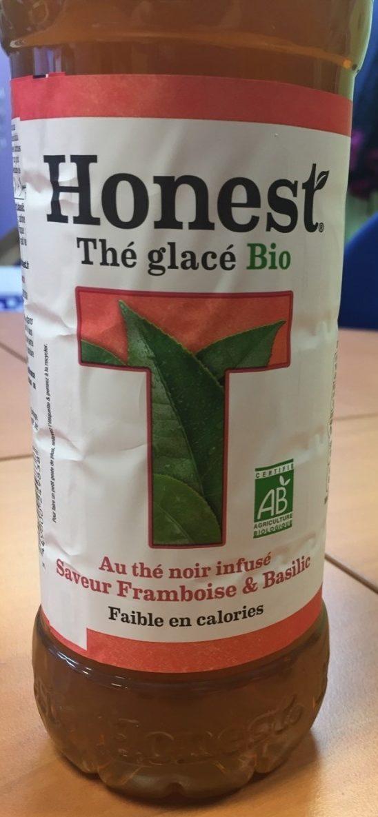 Thé Glacé Bio au Thé Noir Infusé Saveur Framboise & Basilic - Produit - fr