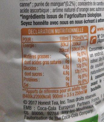Honest infusion fruitée bio - Nutrition facts - fr