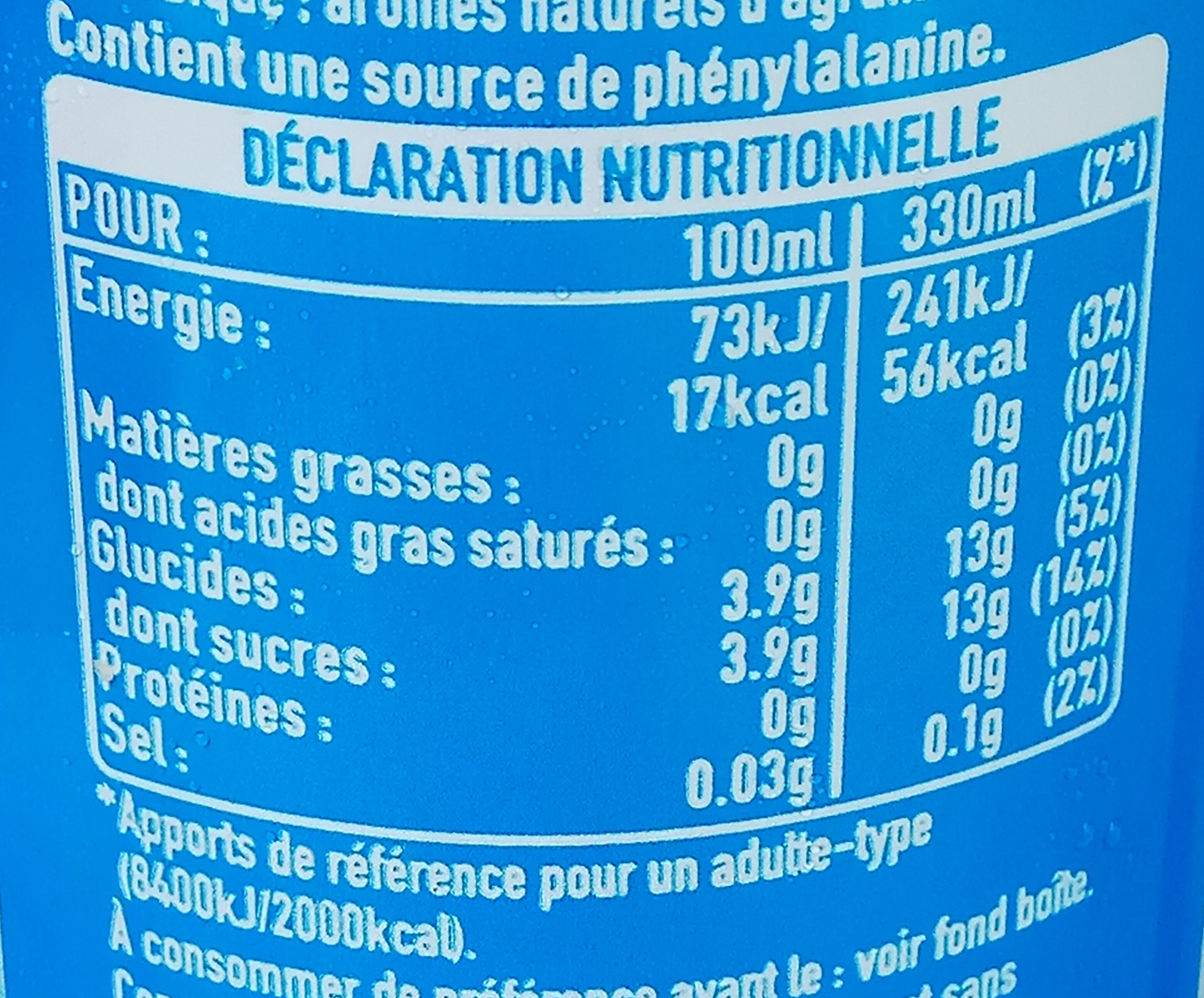 Citronnade - Voedingswaarden - fr