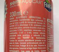 Fanta sin azúcar sabor melocotón y albaricoque - Ingrediënten