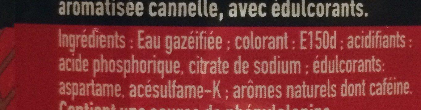 Coca saveur cannelle - Ingrédients - fr