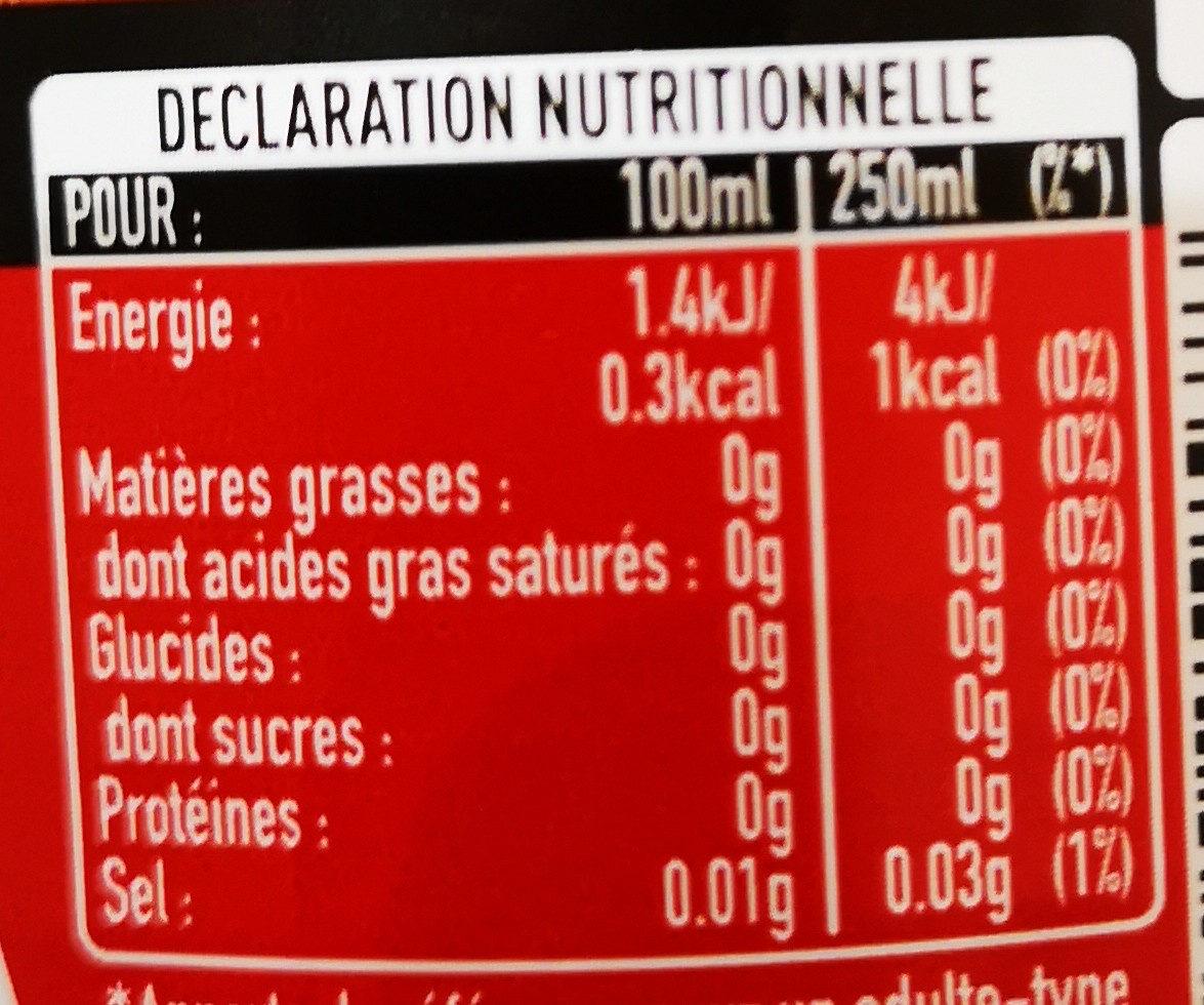Coca saveur cannelle - Informations nutritionnelles - fr
