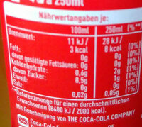 Fanta Mandarine - Informations nutritionnelles - de