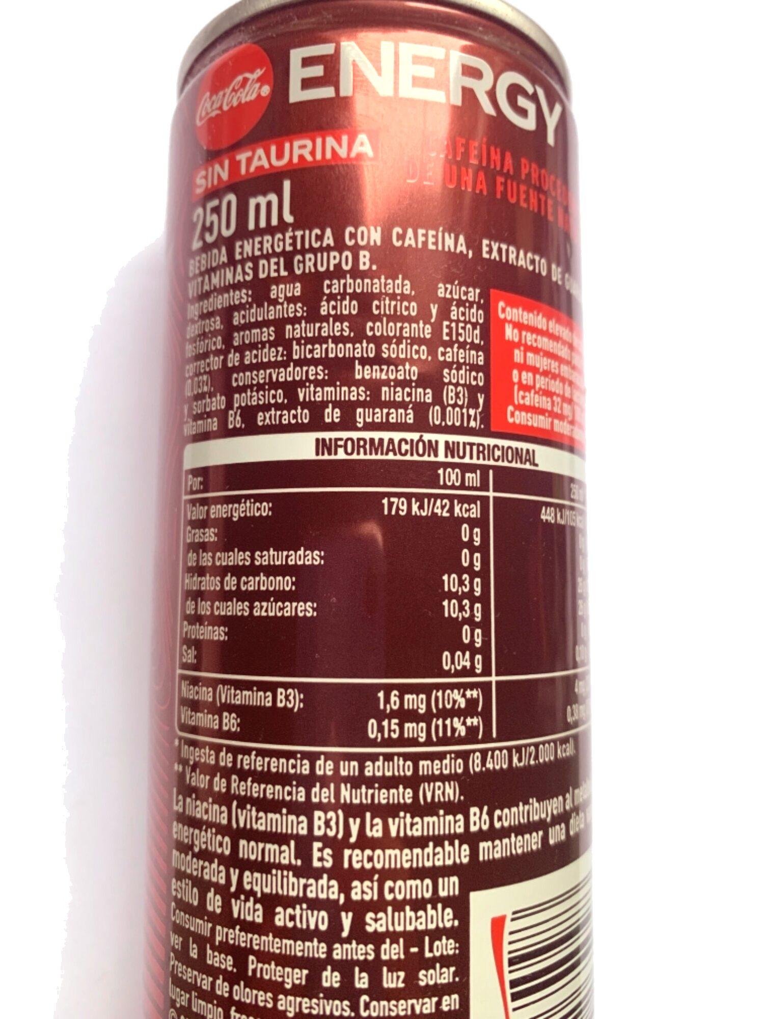 Coca-Cola Energy - Informations nutritionnelles - fr