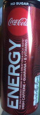 Coca cola energy no sugar - Produit - fr