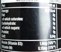 Coca cola energy - Voedingswaarden