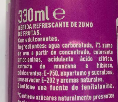 Fanta Uva - Ingredients - es
