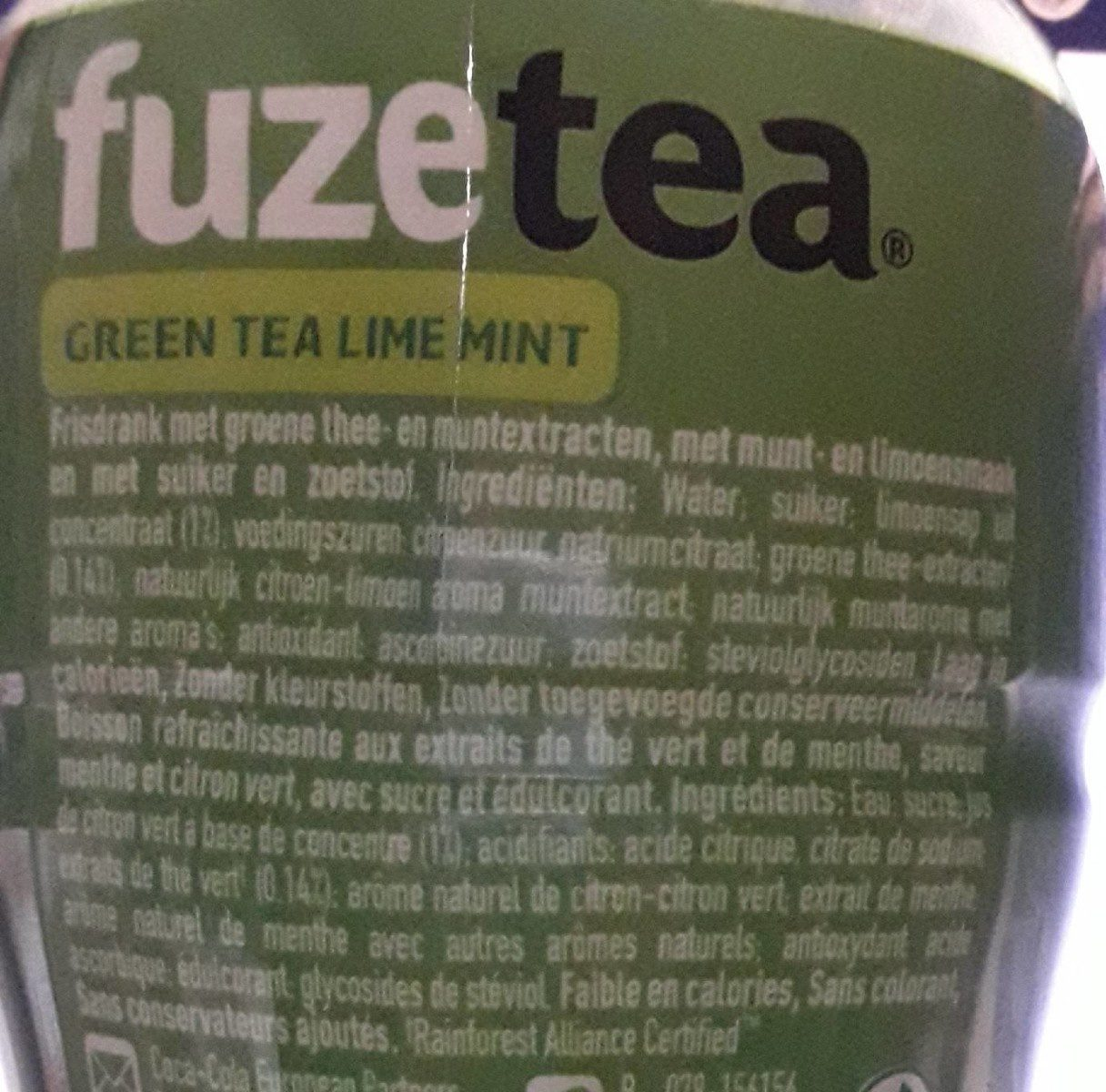 FuzeTea green tea lime mint - Ingrédients
