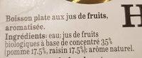 Jus pomme raisin - Ingrediënten