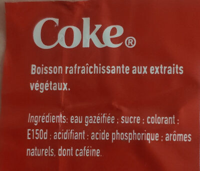 Coca Cola gout original - Ingredients - fr