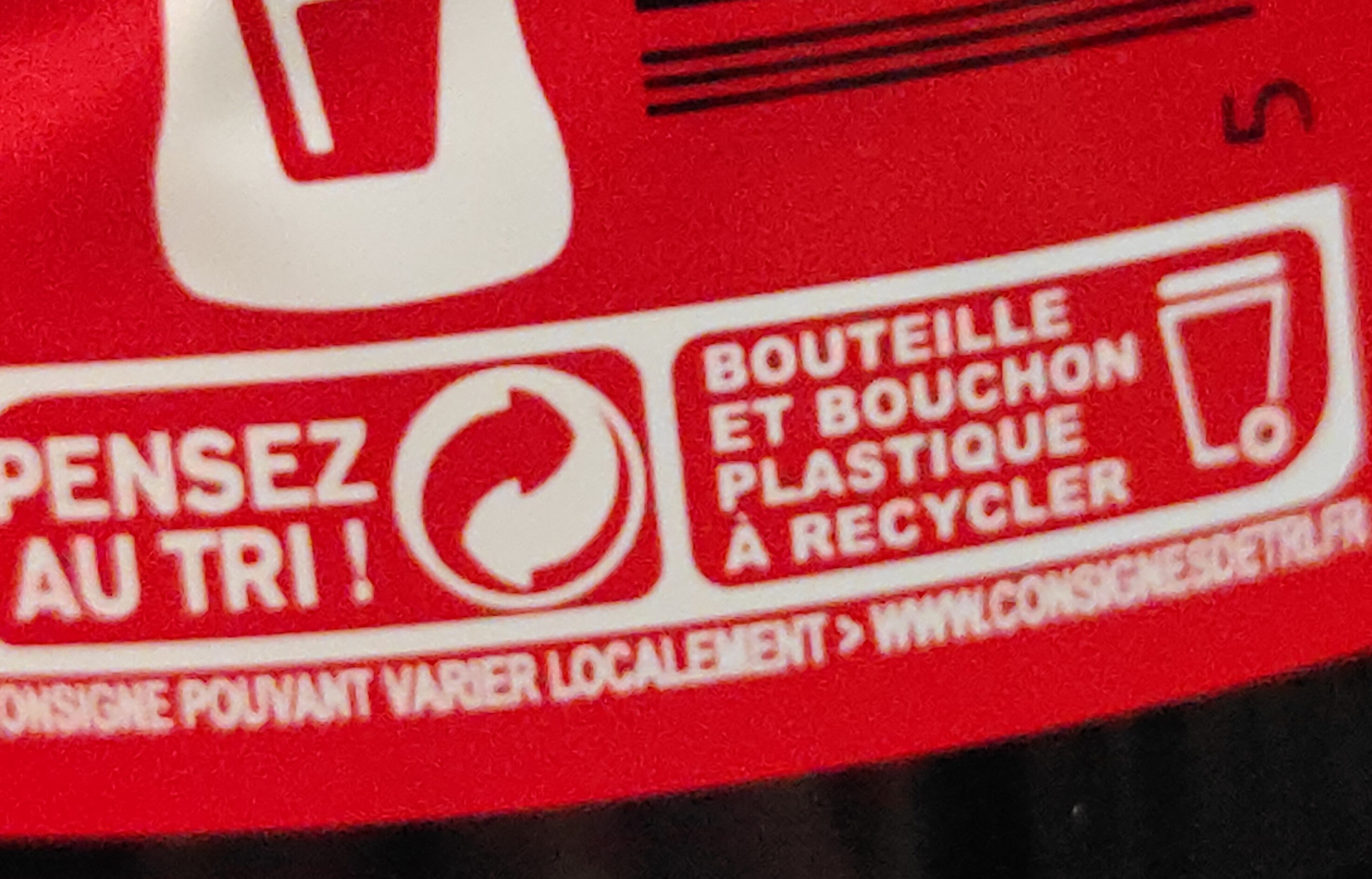 Coca Cola gout original - Recyclinginstructies en / of verpakkingsinformatie - fr